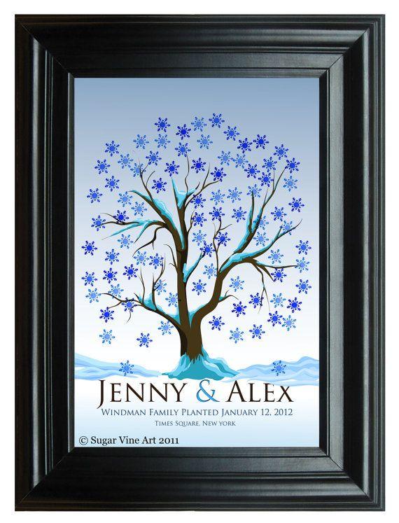 Wedding tree fingerprint gift