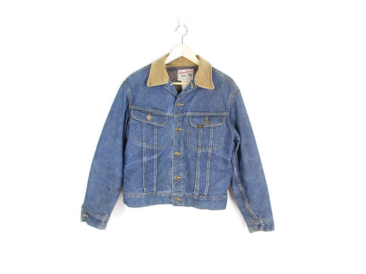 60s Lee Blanket Lined Jean Jacket Vintage Denim Jacket Lee Storm Rider 101 Union Made Usa Blue Jean Work J Vintage Denim Jacket Vintage Denim Lined Jeans [ 900 x 1200 Pixel ]