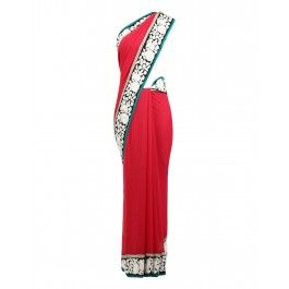 #ExclusivelyIn #ExclusivelyEOSS Pink Embroidered Saree