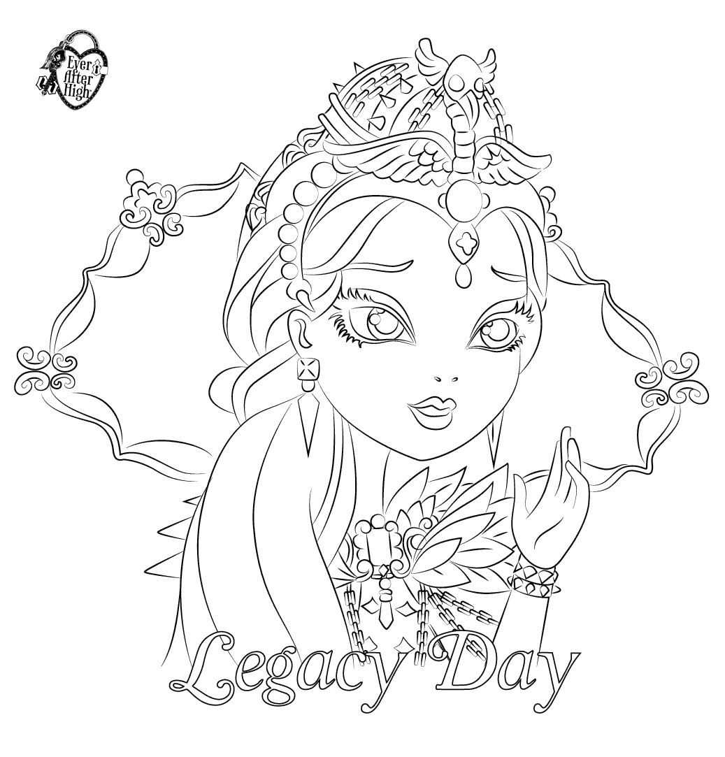 Ever After High Coloring Pages Raven Queen Raven queen