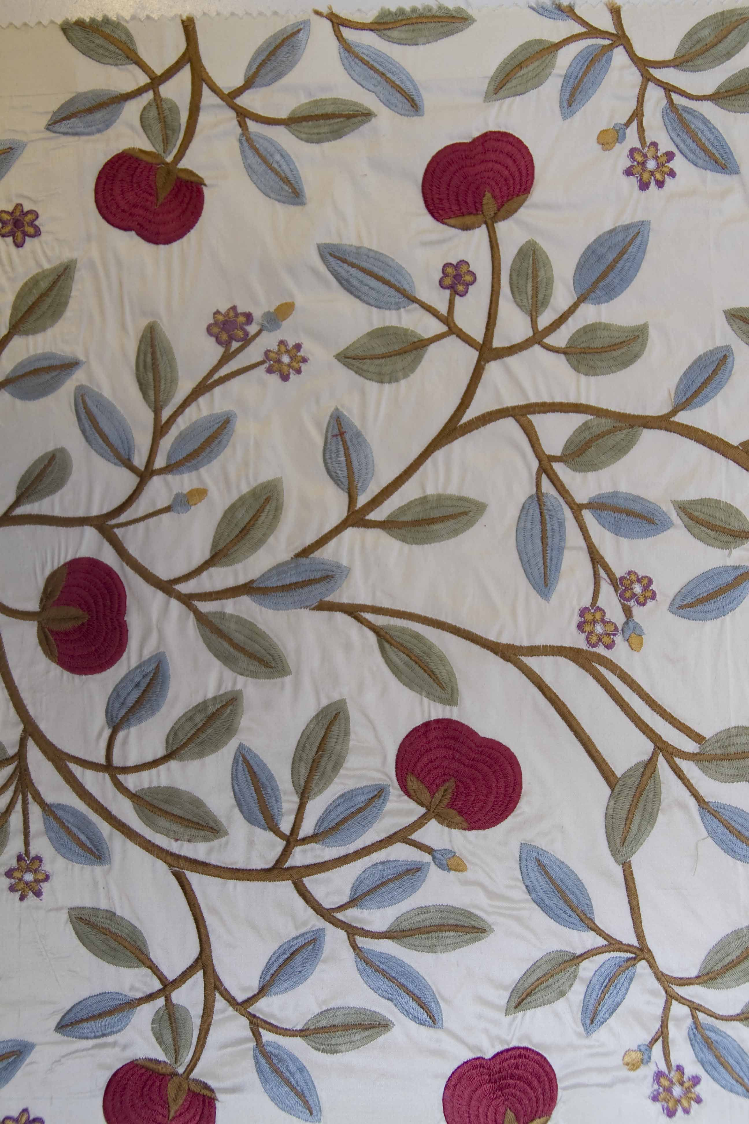 Gp J Baker Embroidered Silk Fabric