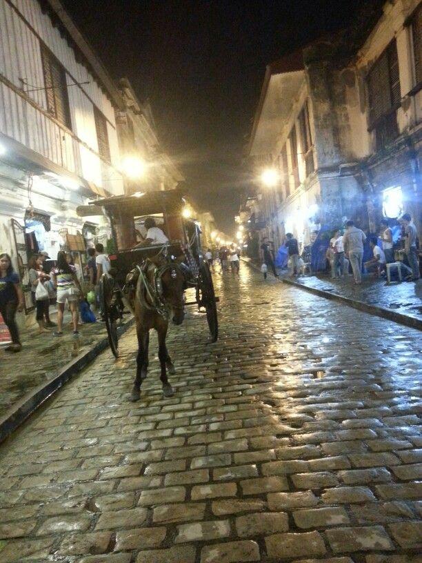 Calle crisologo at night-vigan city!