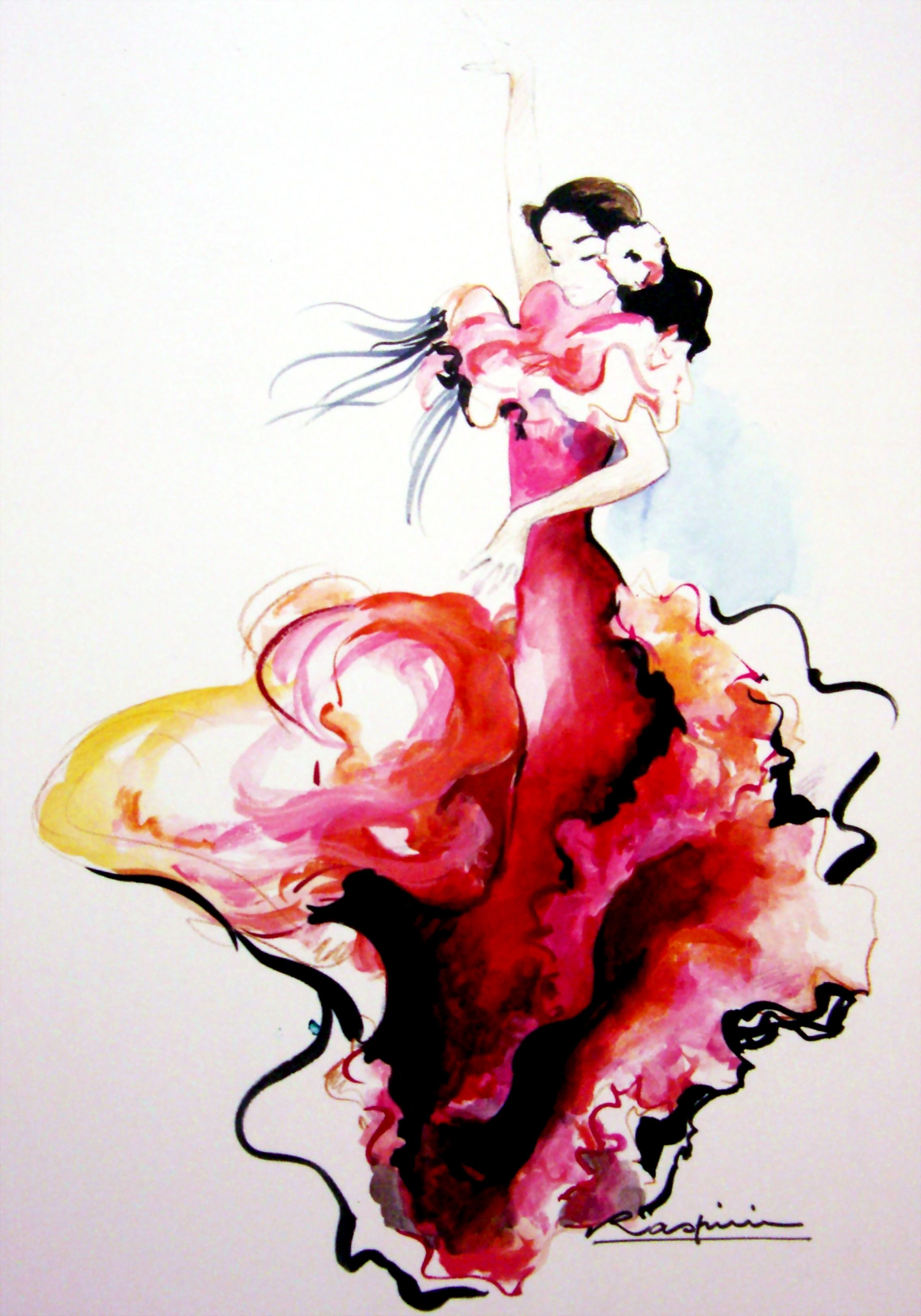 Sevillana In The Orchid Dress Danseuse De Flamenco Danseuse