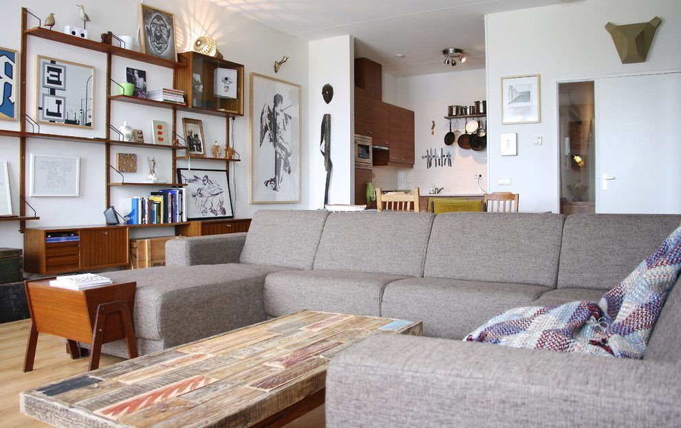 ikea kivik sectional family room eclectic with black and