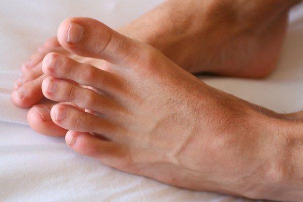 Perfect male feet