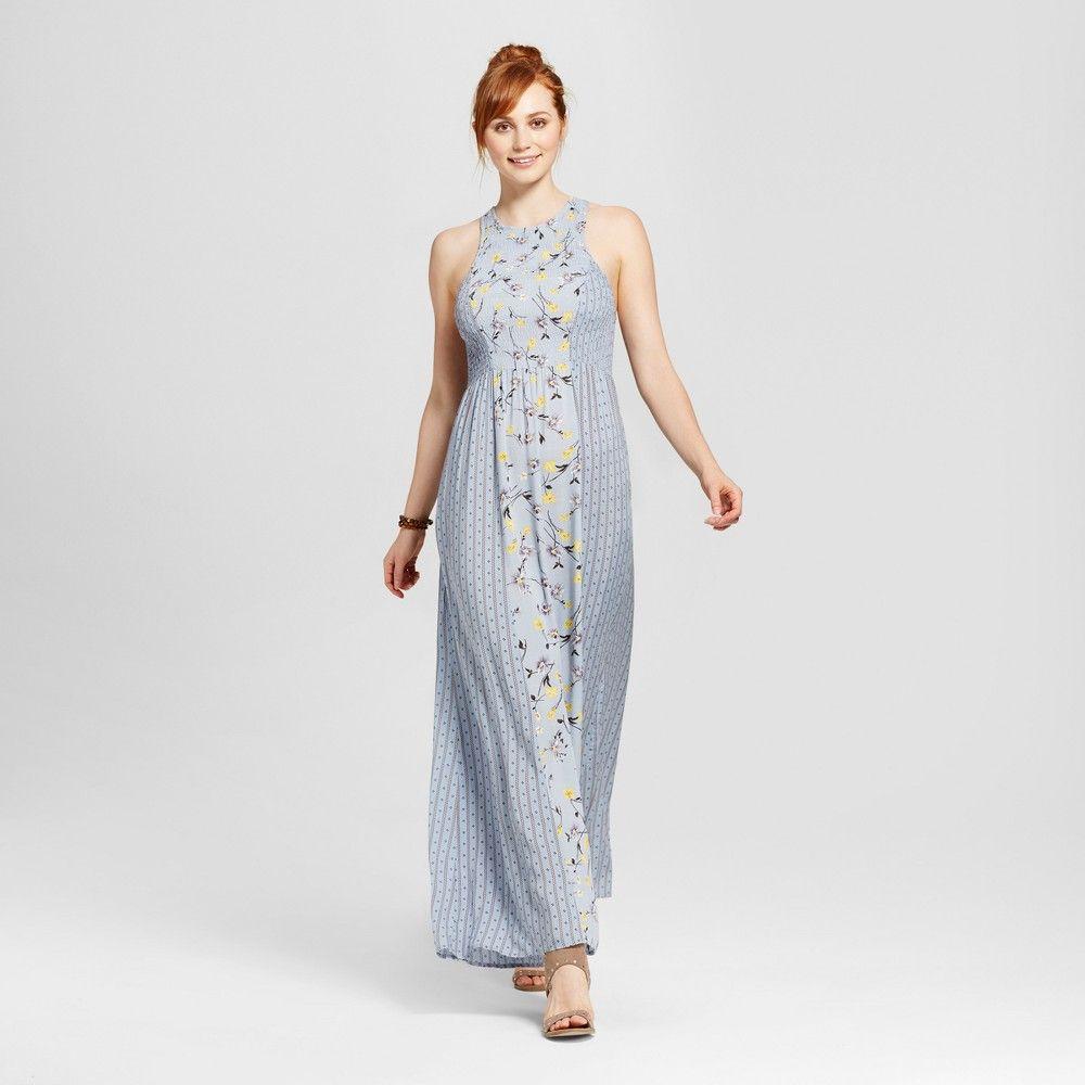 Womenus mixed print floral maxi dress le kate juniorsu blue xl