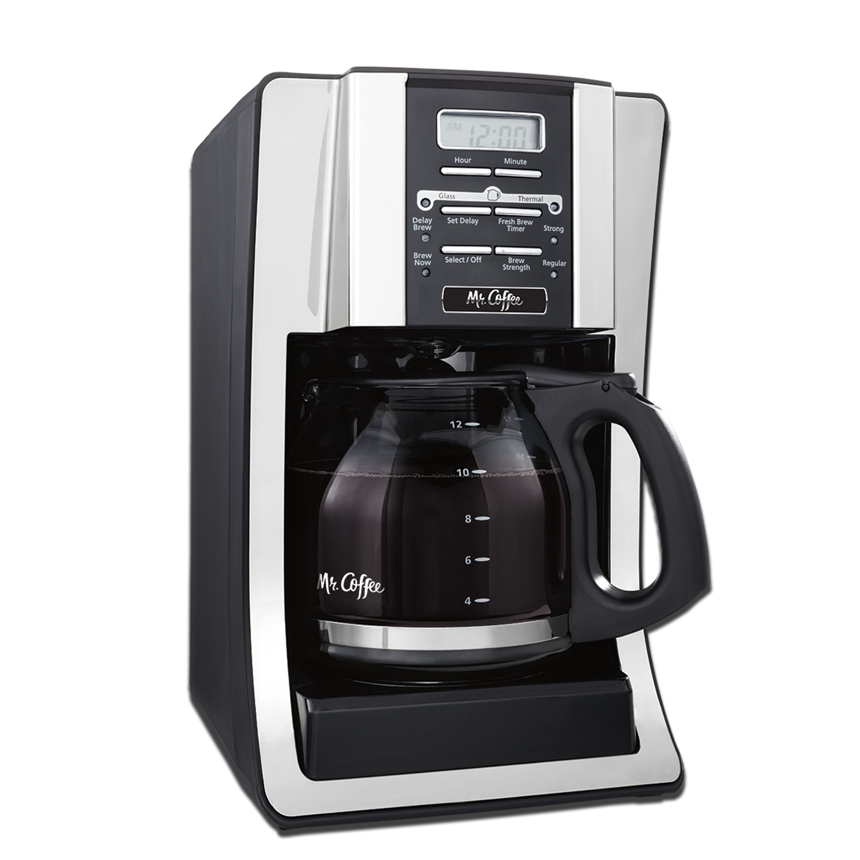 Mr Coffee 12 Cup Programmable Black Coffee Maker Walmart Com In 2020 Mr Coffee Best Coffee Maker Best Drip Coffee Maker