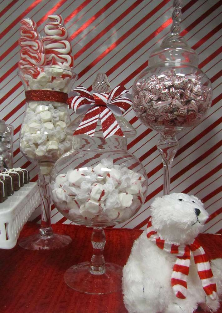 Office Party Christmas Ideas Part - 23: Red And White, Candy Cane Christmas/Holiday Party Ideas