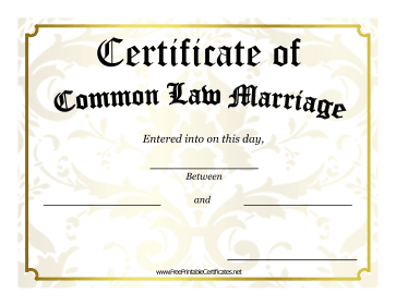 A Gold Border And Victorian Design Give This Common Law