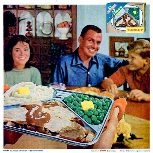 The creation of Swanson TV dinners, which is owned by Campbell's Soup.