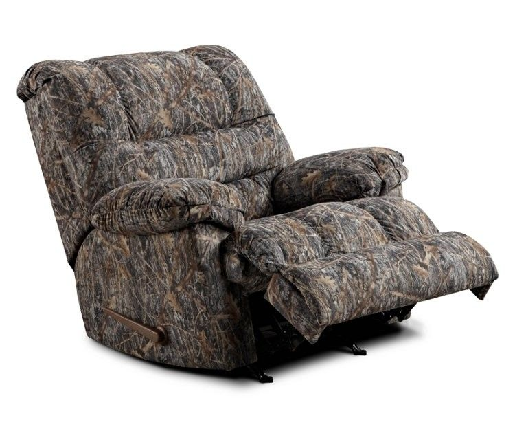 Simmons Camouflage Microfiber Rocker Recliner by United Furniture Ind  Cit  for  259 99. Simmons Camouflage Microfiber Rocker Recliner by United Furniture