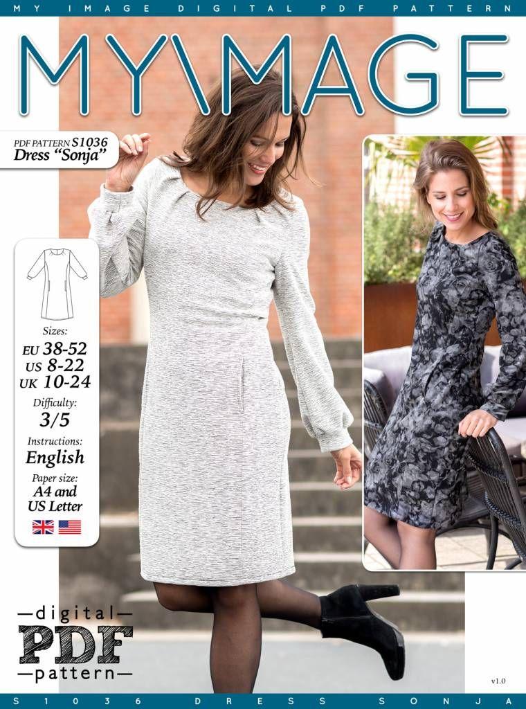 Sonja - Jerseykleid für Damen | Shops, Schnittmuster und Die dame