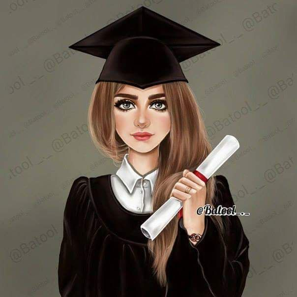Pin By On Phd Graduation Girl Graduation Cartoon Girly M