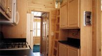 12x40 cabin on wheels with porch and loft small houses for 12x40 mobile home floor plans