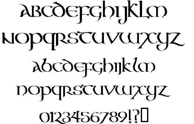 Aon Cari Celtic font | Fonts | Celtic fonts, Irish font