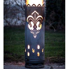 Feuertonne Lilie Hergestellt Aus Einer Gasflasche Jmfeuer In 2020 Mit Bildern Feuertonnen Feuer Feuerkorb