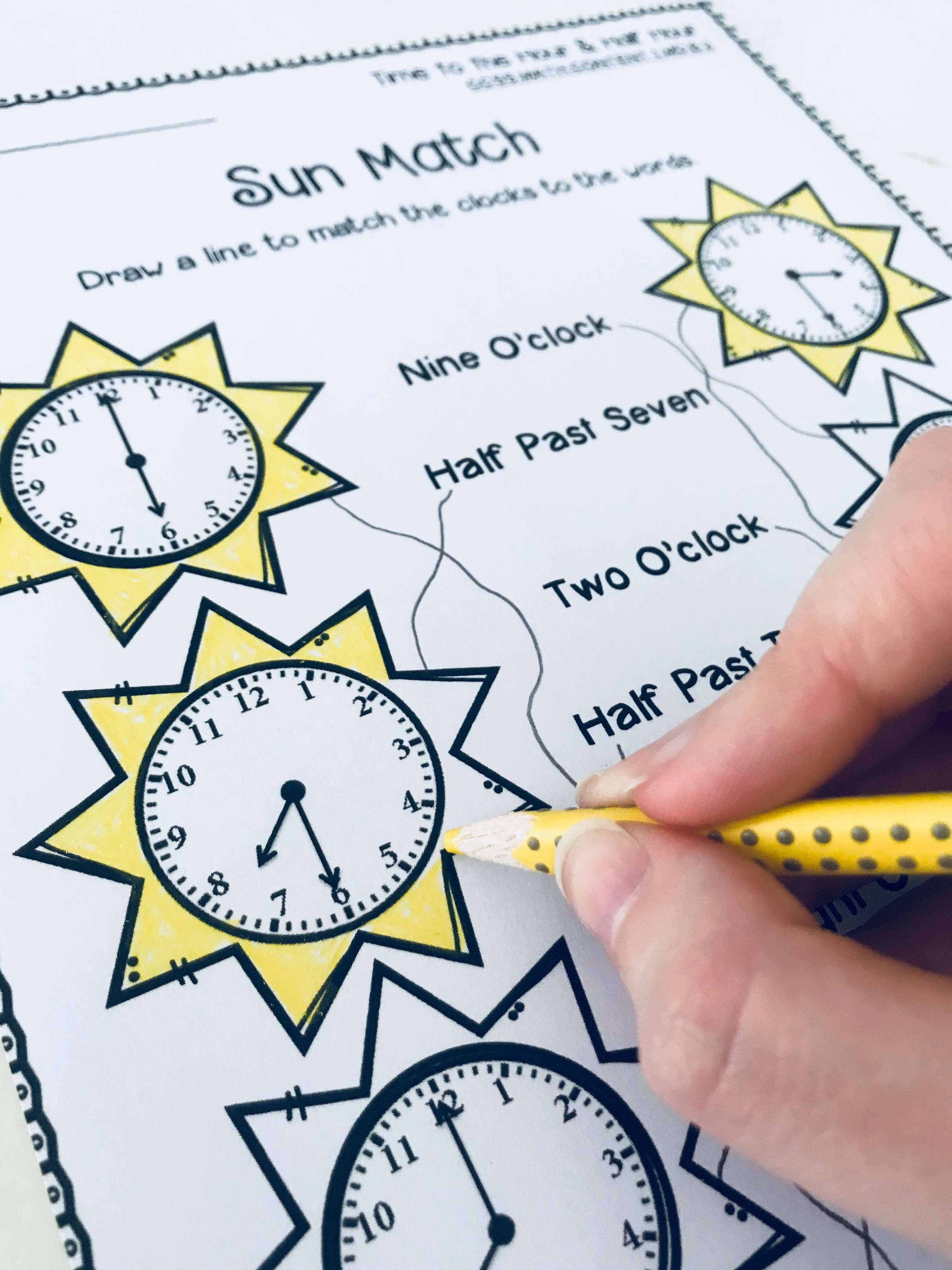 Telling Time Worksheets Activities Hour Amp Half Hour
