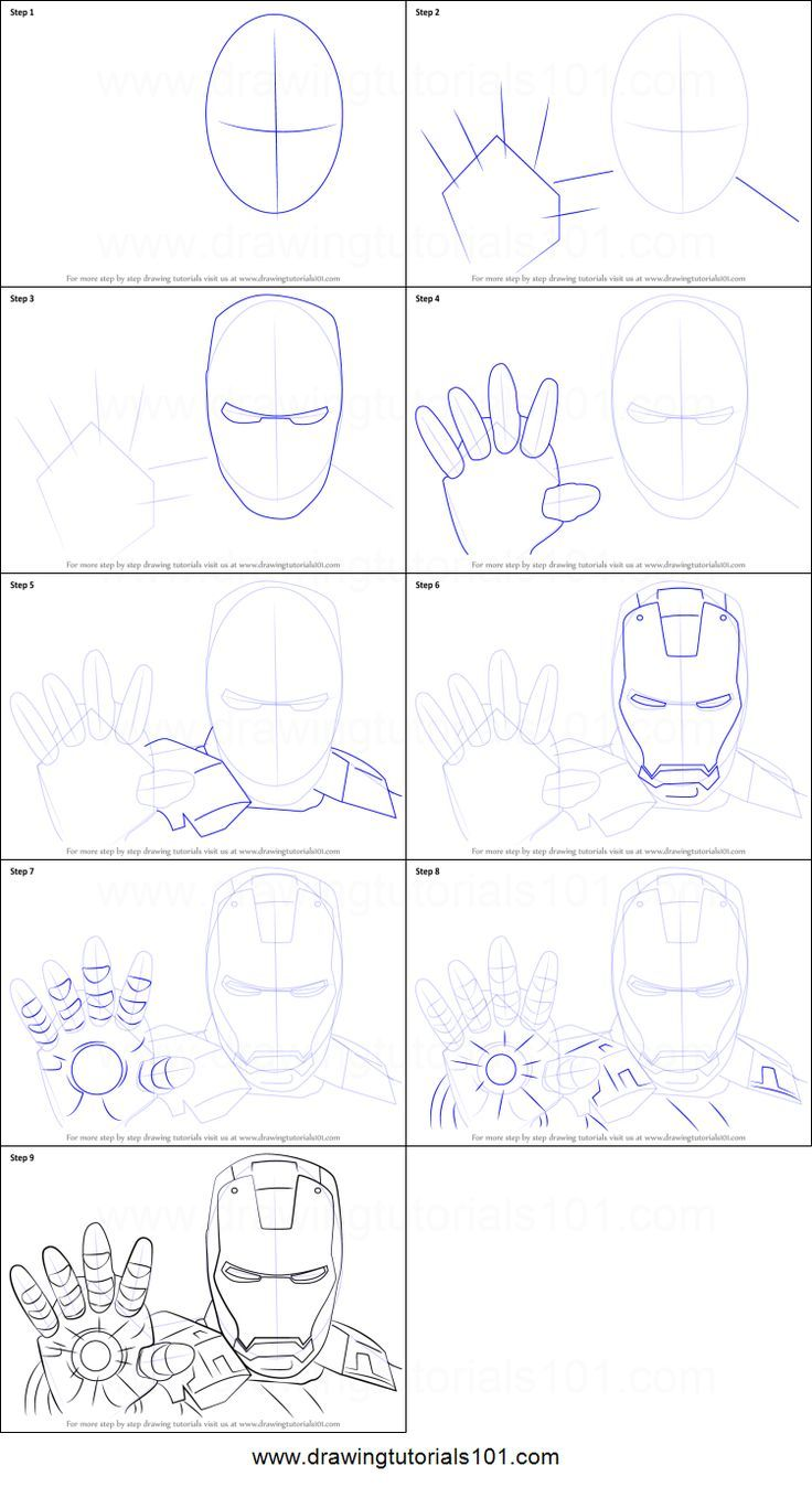 How To Draw Iron Man Face Printable Drawing Sheet By Drawingtutorials101 Com Iron Man Drawing Iron Man Drawing Easy Iron Man Art