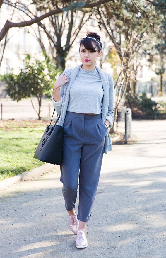 Top Blogueuse mode Paris - look idées pour s'habiller pantalon court  GA19