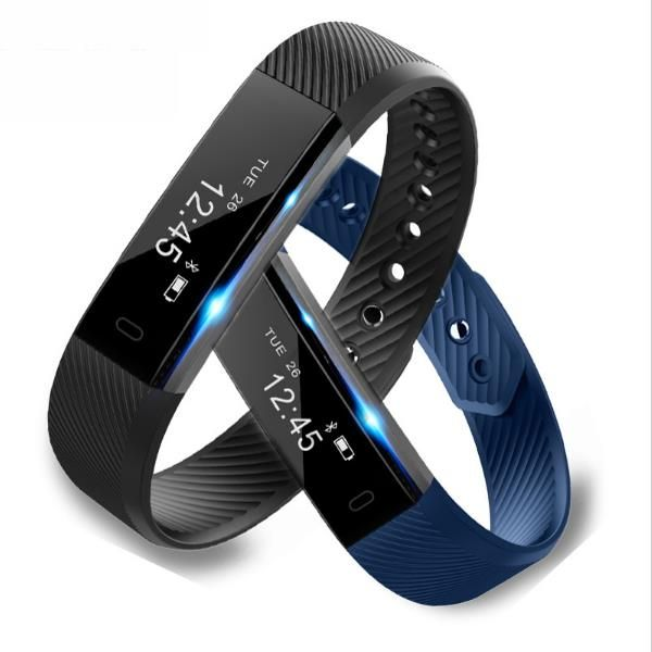 Sale 25% (12.69$) - ID115 Fitness Tracker Smart Bracelet Step Counter Activity Monitor Wristband for Android IOS