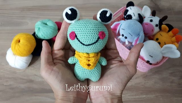 Amigurumi Göz : Leithygurumi: cute little büyük göz kurbiş frog english and turkish