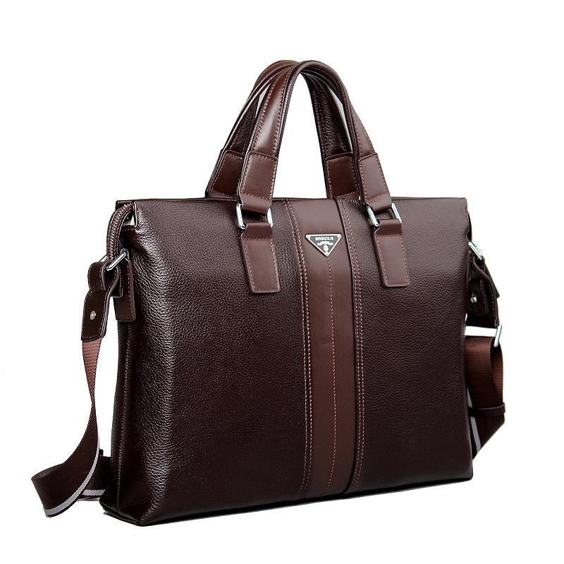 117.35$  Watch now - http://alis7k.worldwells.pw/go.php?t=32530138825 - Luxury Brand Cowhide Men Briefcases Famous Men Genuine Leather Handbags  Men's Leather Laptop Bag Briefcase