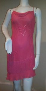 Cache Coral Pink Dress on Ebay