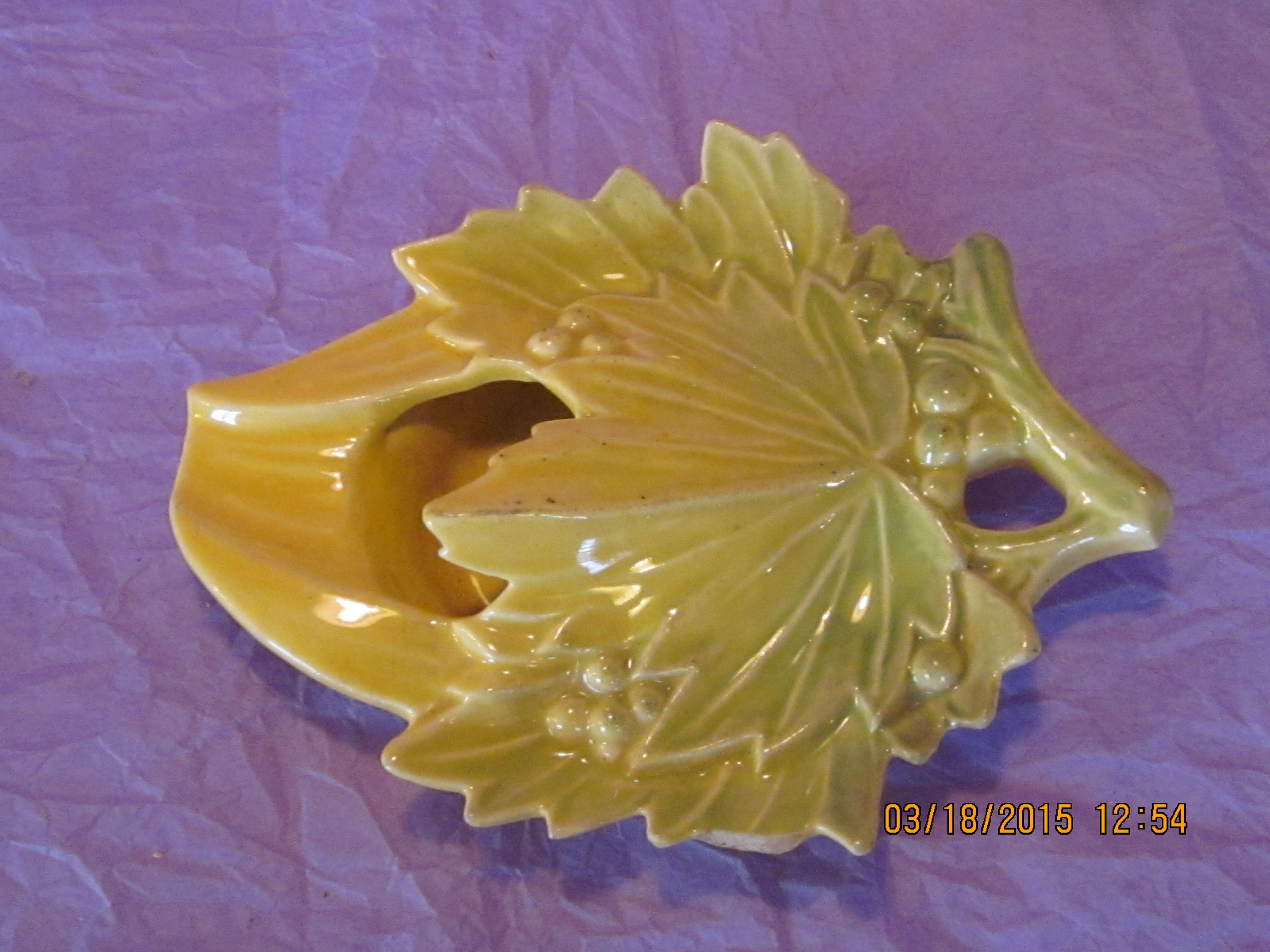 McCoy Maple Leaf Wall Pocket | My McCoy Pottery | Pinterest | Wall ...