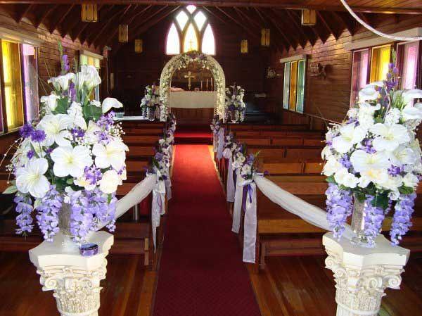 Wedding Church Flower Arrangements | Wedding inspiration. Shades of ...