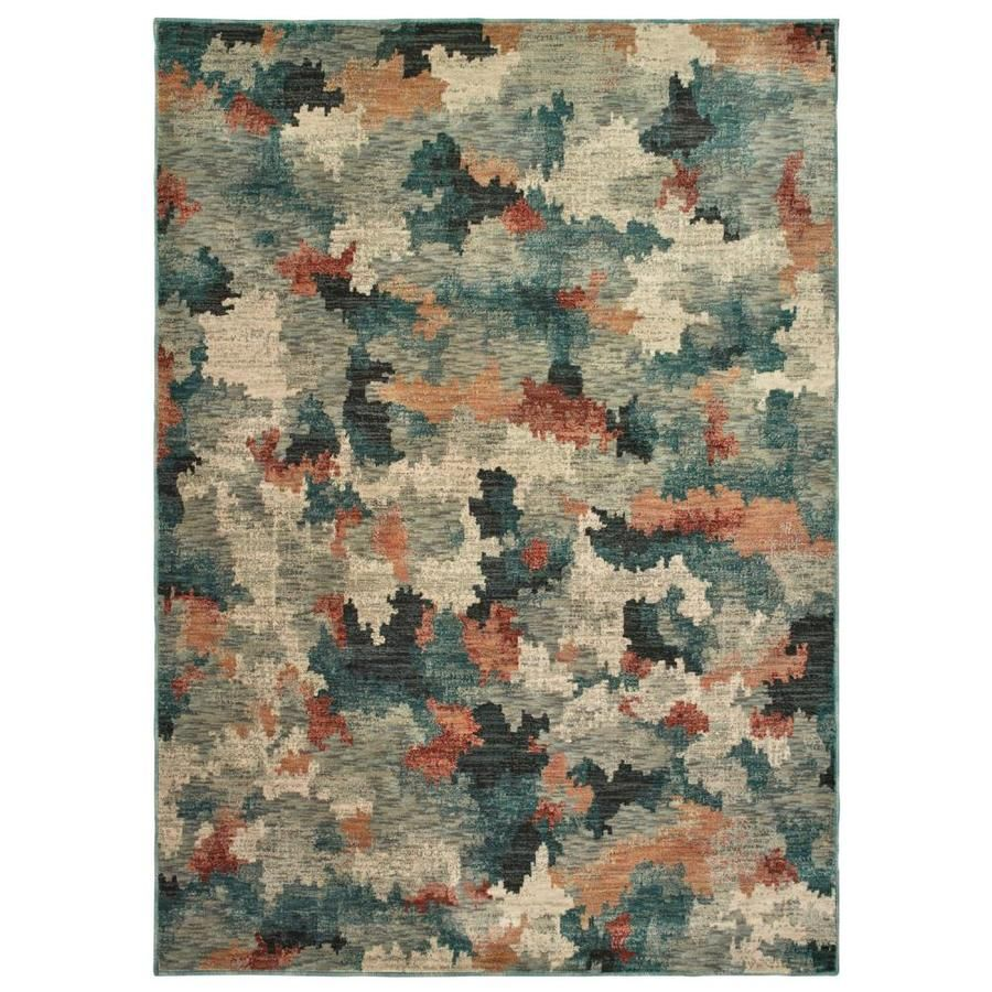 Allen Roth Brinkley 8 X 11 Multi Indoor Abstract Bohemian Eclectic Area Rug Lowes Com Eclectic Area Rug Rugs Area Rugs