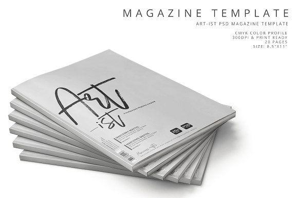Art-ist Magazine Template Vol6 by pmvch on @creativemarket