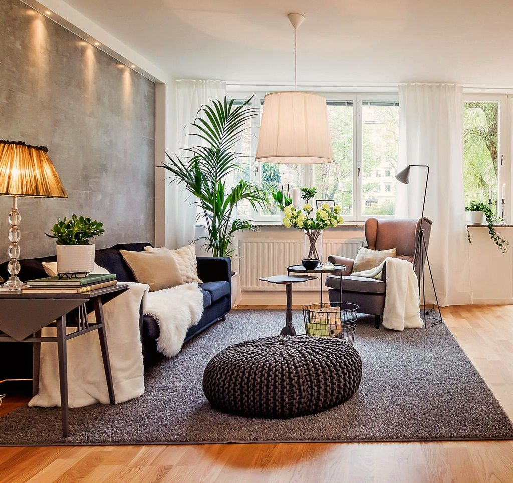 Квартира 80 кв.м. in 2019   Living room designs, Interior ...