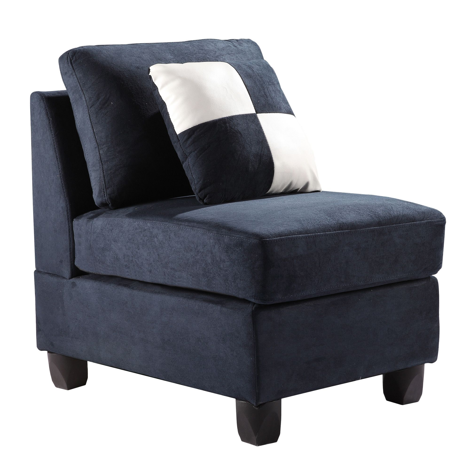 Best Deschutes Armless Chair Blue Accent Chairs Navy Blue 400 x 300