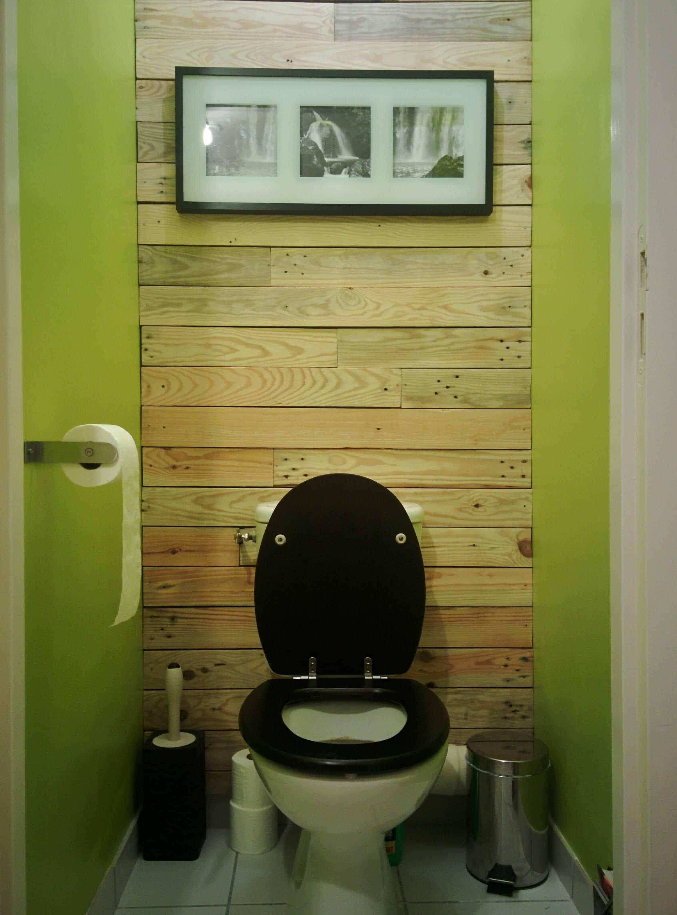 Décoration De Mur En Bois De Palettes / Toilet Pallet Wall ...