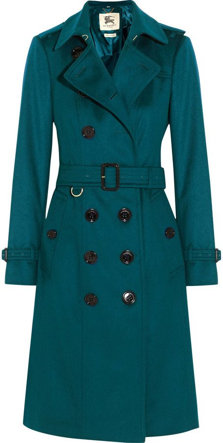 Burberry London Brushed Cashmere Trench Coat
