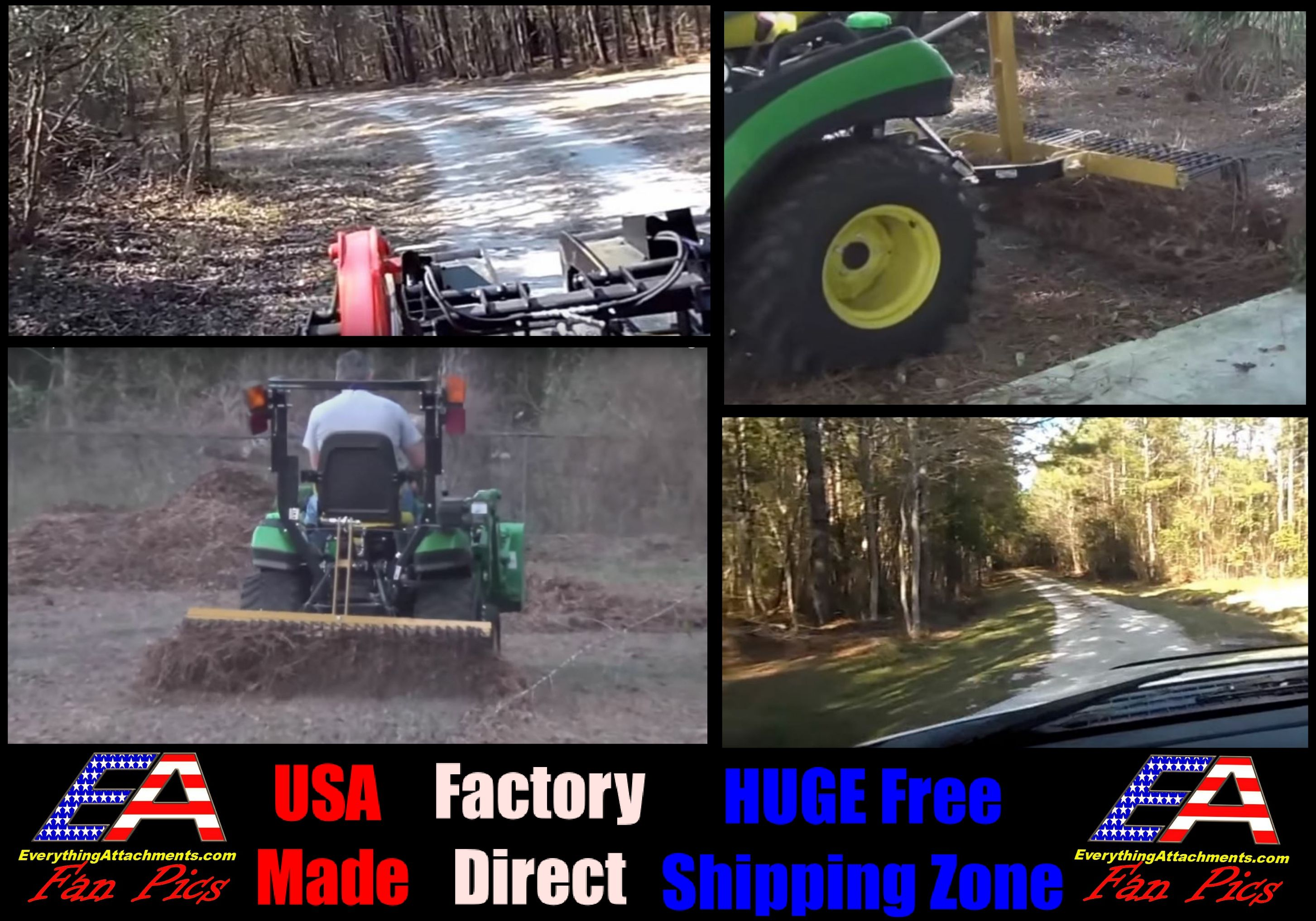 This Very Versatile Affordable Rake Will Really Increase Your Tractor S Versatility Around The House Our Pine Straw Rake Has S In 2020 Tractors Landscape Rake Rakes