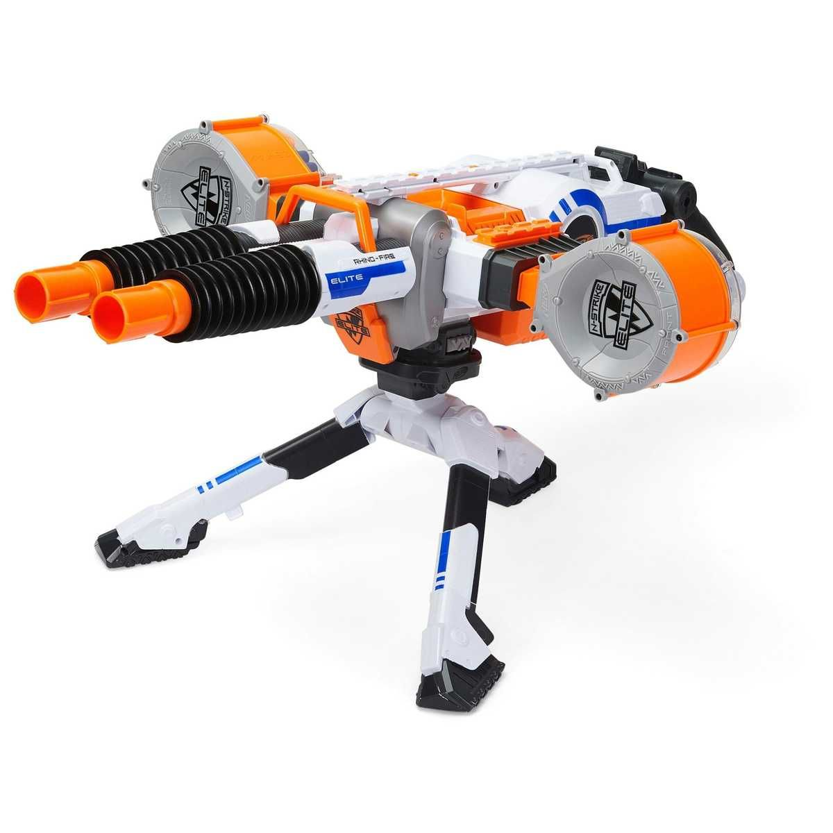 NERF N-Strike Elite Rhino-Fire Blaster Motorized Double-Barrel Blaster w/