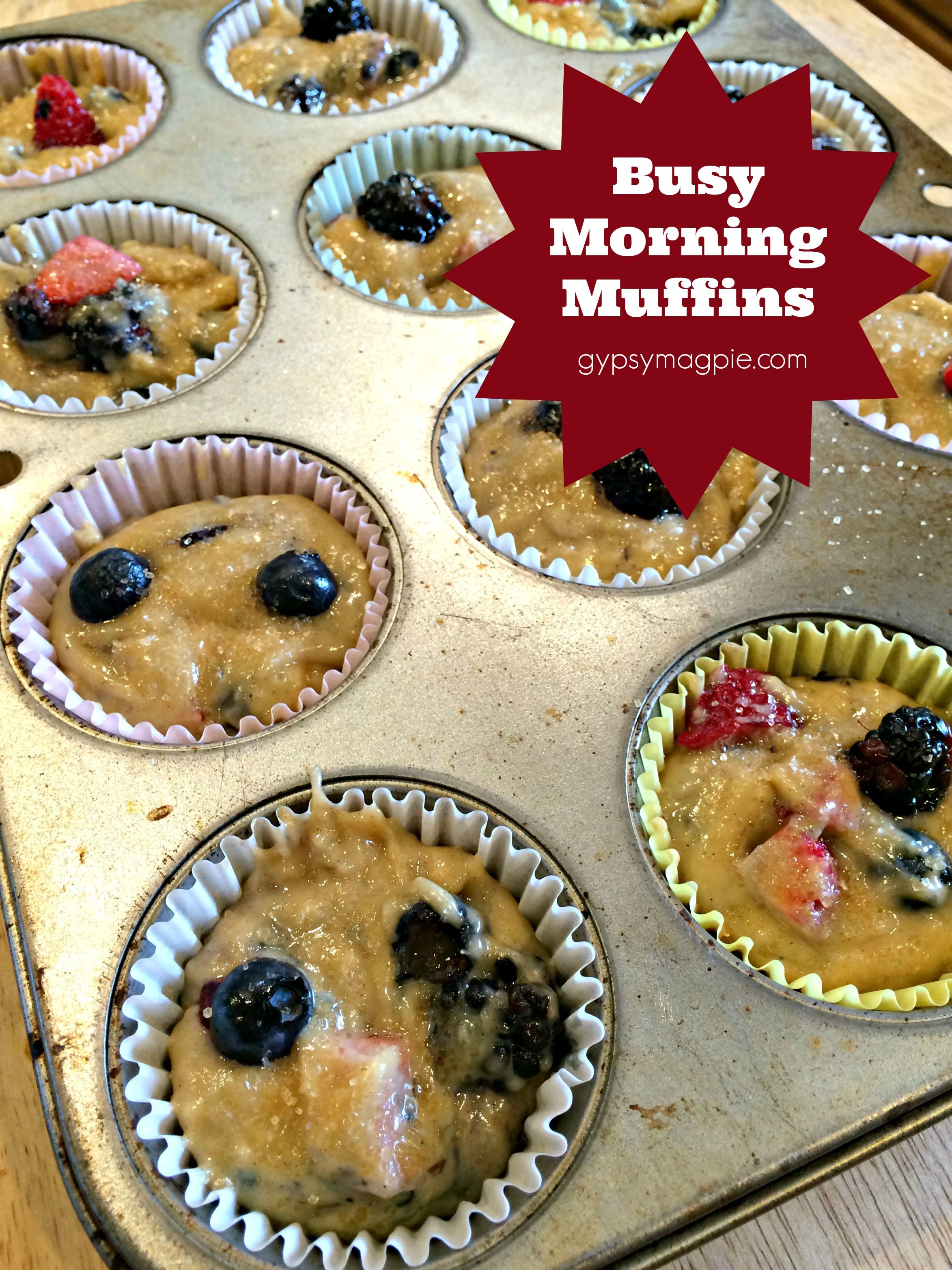 How to prep and freeze batter to have hot muffins on those busy weekday mornings {Gypsy Magpie}