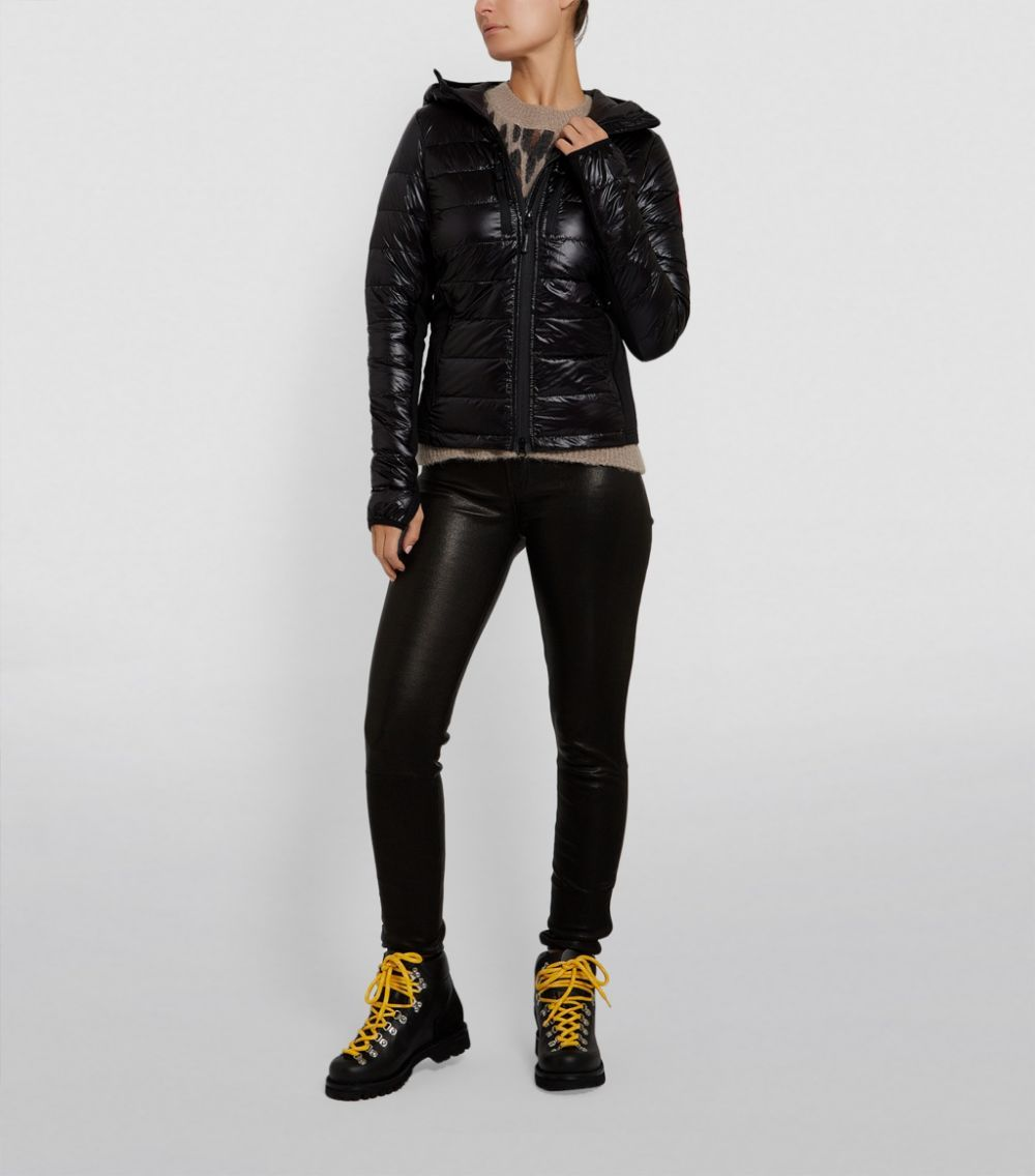 Canada Goose Black Hybridge Lite Hooded Jacket Harrods Uk In 2020 Hooded Jacket Long Dress Casual Jackets