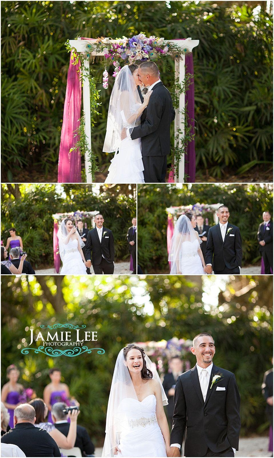 Natalie and Chris │ Naples Zoo Wedding Photographer │ Purple Peacock Feathers_0012