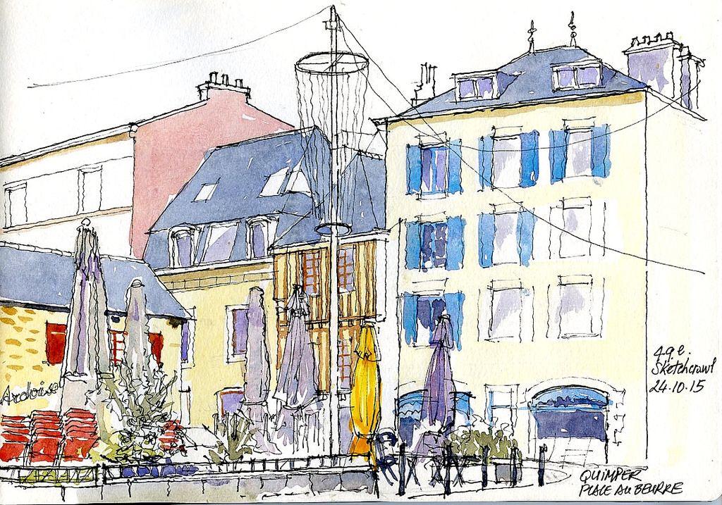 Quimper Place Au Beurre 24 10 2015 Paris Quimper