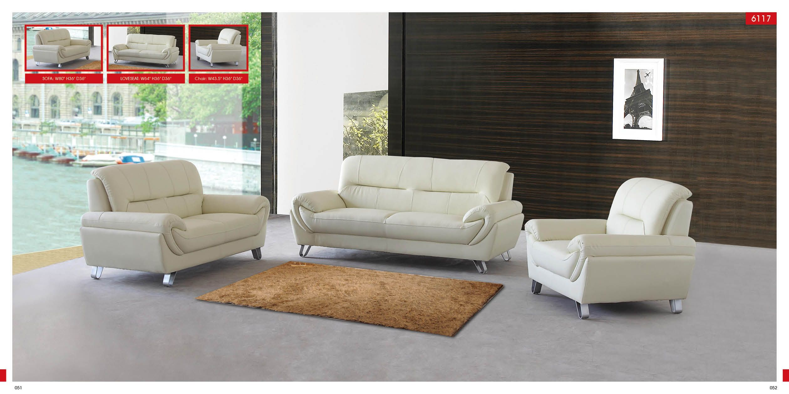 Living Room Furnishings And Design Entrancing Modern Off White Leather 3 Pc Sofa Set  Leather Sofa Sets Inspiration Design