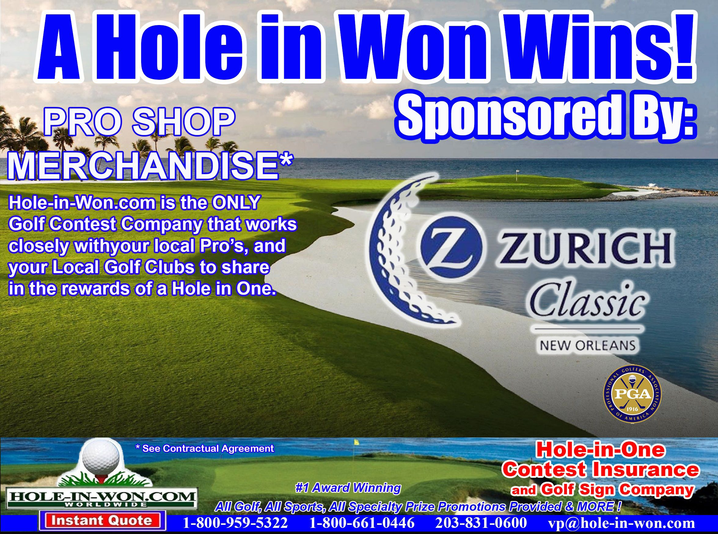 Zurich Insurance Agents Hole in One Insurance Putting