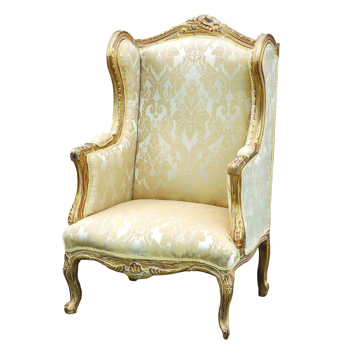 Parisian Chic Gilt Wingback Chair Wingback Chair