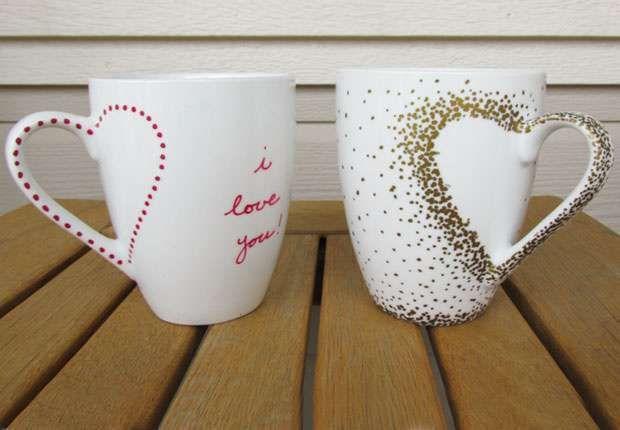 Basteln Mit Tassen resultado de imagen para tazas decoradas a mano con frases