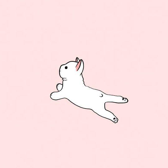 Minimalistic art by Victoria French bulldog dog, French