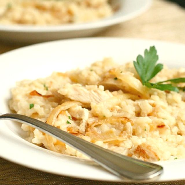 Caramelized onion & chicken risotto | Mmmm | Pinterest