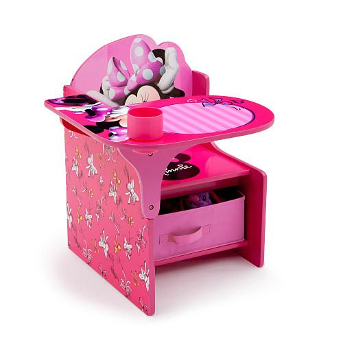 Disney Minnie Mouse Chair Desk With Storage Bin | Brooklyn | Pinterest