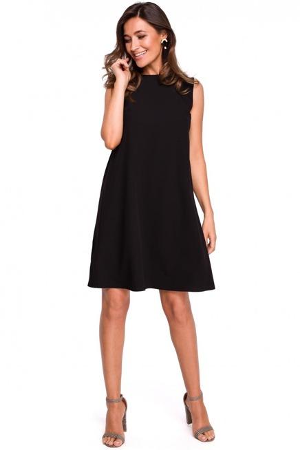 Swobodna Trapezowa Sukienka Z Dekoltem Na Plecach Kobieta Odziez Sukienki Sukienki Shop Fashion Clothes Little Black Dress
