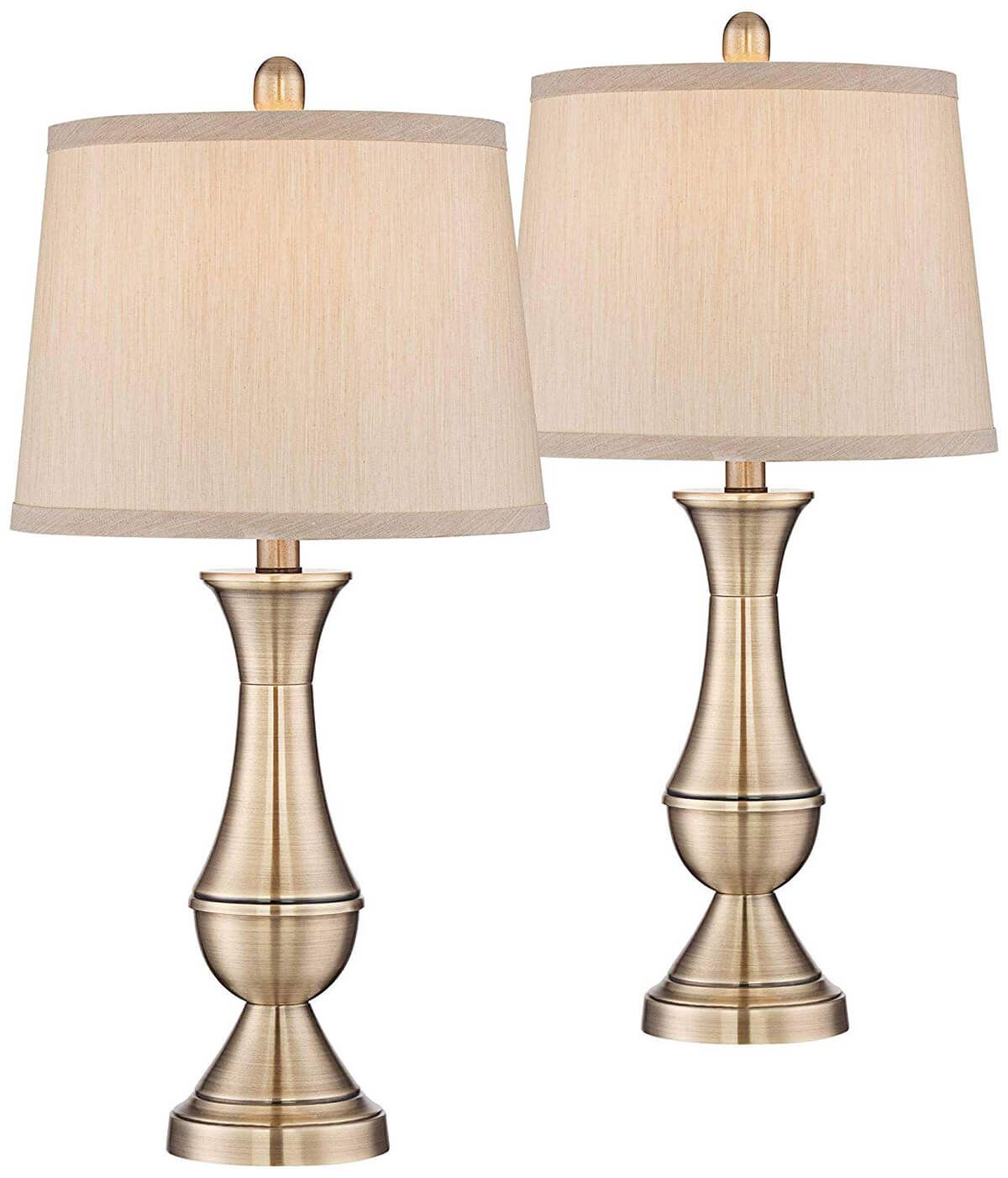 Set of Two Traditional Table Lamps | Table lamp, Metal table